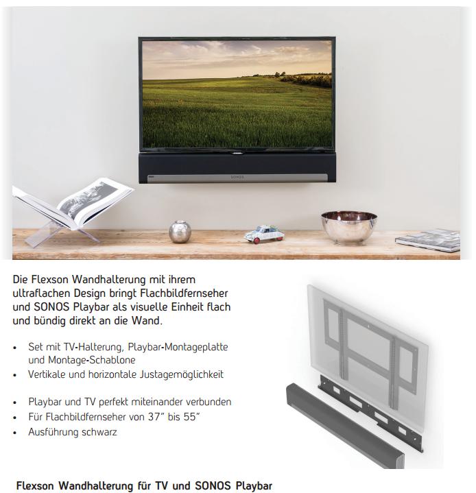 sonos playbar tv halterung mconcept sound lifestyle gmbh. Black Bedroom Furniture Sets. Home Design Ideas